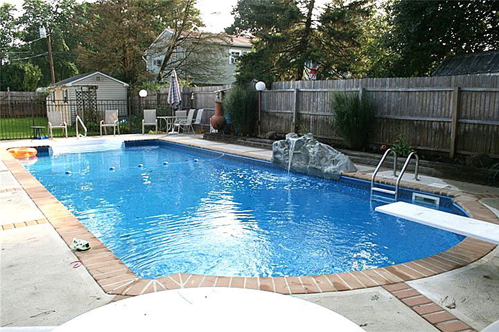 swimming pool waterfalls monmouth county